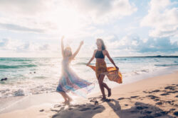 Zand en zonnebrand